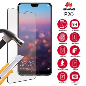 100% Genuine Tempered Glass Film Screen Protector For Huawei P20