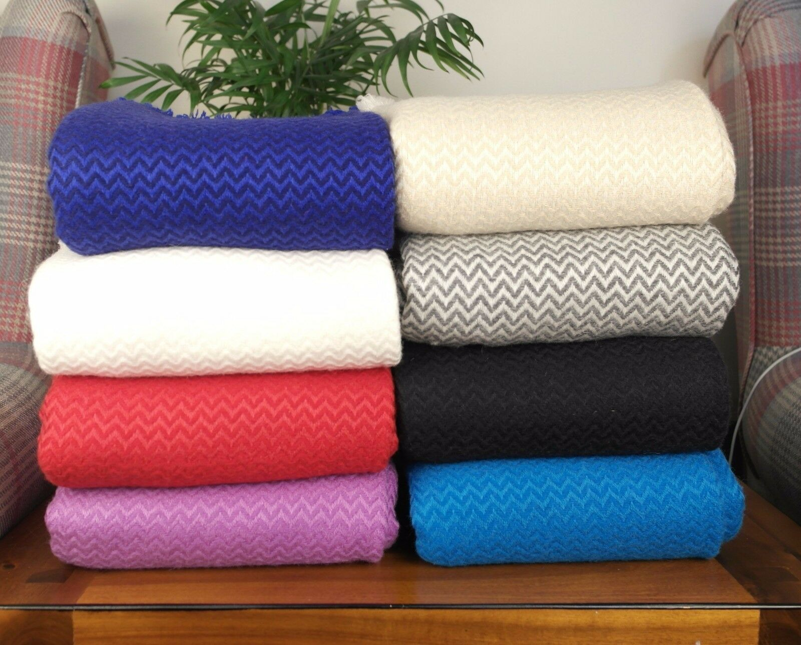 New Soft and Warm Cashmere Wool Sofa Throws Travel Throw Chair Hand-Woven