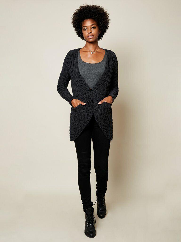 Vaute Couture el Anais Cochedigan Negro XS, Vegano,  Eco, hecho en EE. UU.  tienda en linea