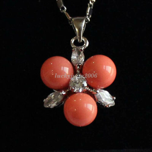 18K Gold Plated Jade South Sea Shell Pearl Pendant Women Lady Jewelry