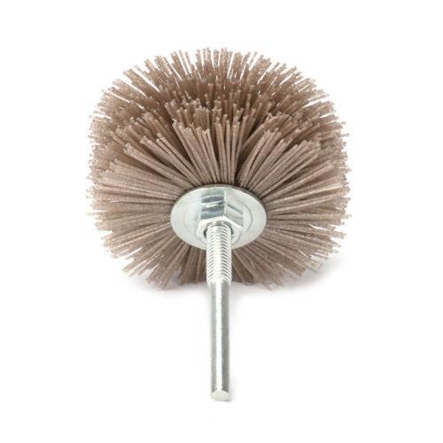 "3.2/"" Abrasive Nylon Wheel Brush Woodworking Buffing Rotary Tools 3Pcs 120~240#"