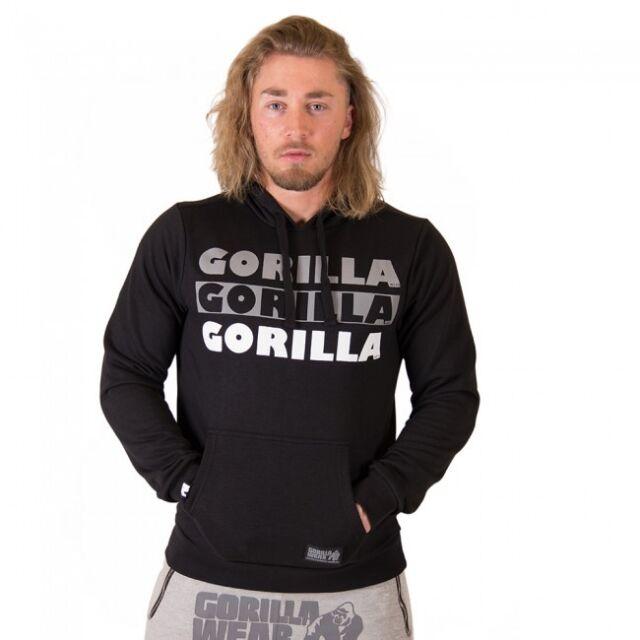 Gorilla Wear Ohio Felpa – Black Pullover con Cappuccio Bodybuilding Fitness