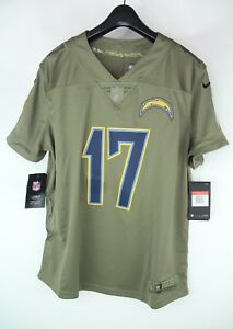 low priced f63aa cb735 Women's Rivers #17 Jersey Los Angeles LA Chargers Salute to ...