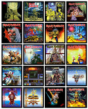 """IRON MAIDEN 20 pack of 7"""" singles discography magnets lot (set 1 of 2)"""
