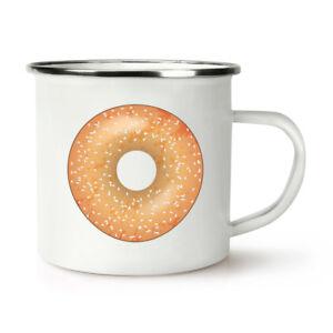 Sprinkled Glazed Doughnut Donut Retro Enamel Mug Cup