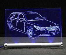BMW 5  E61 Touring als  AutoGravur auf LED-Leuchtschild