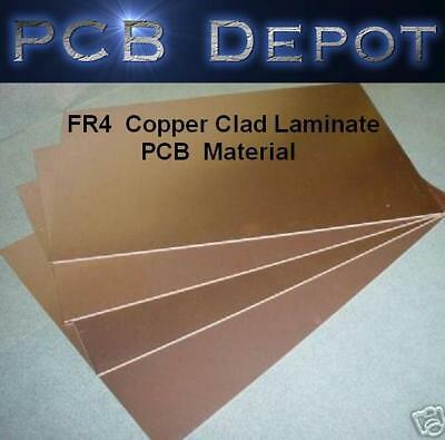 "Double Sided 1//2 oz Copper Clad Circuit Board PCB 4/"" x 6/"" FR-4 5 pcs .060"