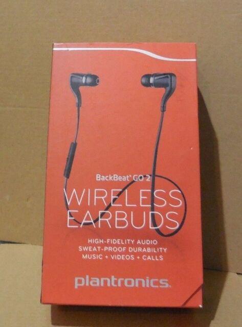 Plantronics BackBeat GO 2 Wireless Bluetooth Stereo Earbuds BLACK ( Open Box )