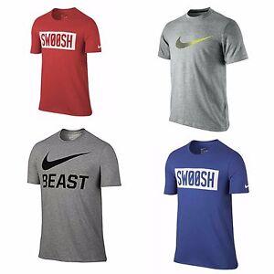 12a14c13 Men's Nike Dri-Fit T-Shirt Tee S, M, L or XL, Red Blue Grey or Black ...