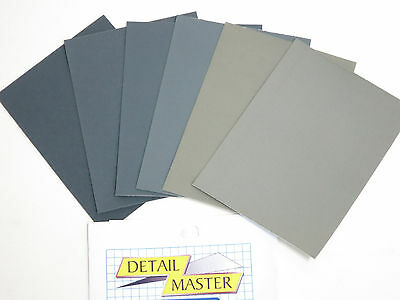 Micro Mesh Detail Master Paint Polishing Cloth 3200 to 12000 (6 differe) DM-9000