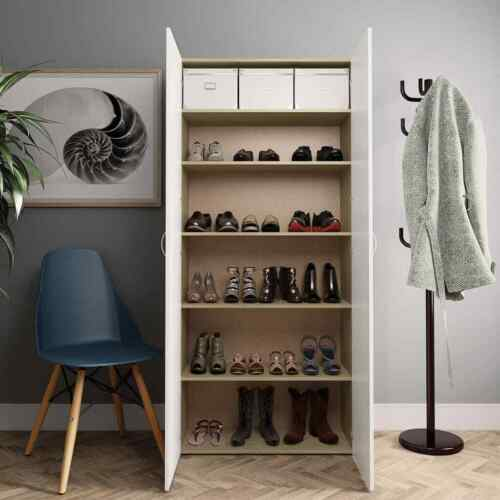 Shoe Cabinet Chipboard Home hallway Footwear shoes Storage Organiser Unit shelf