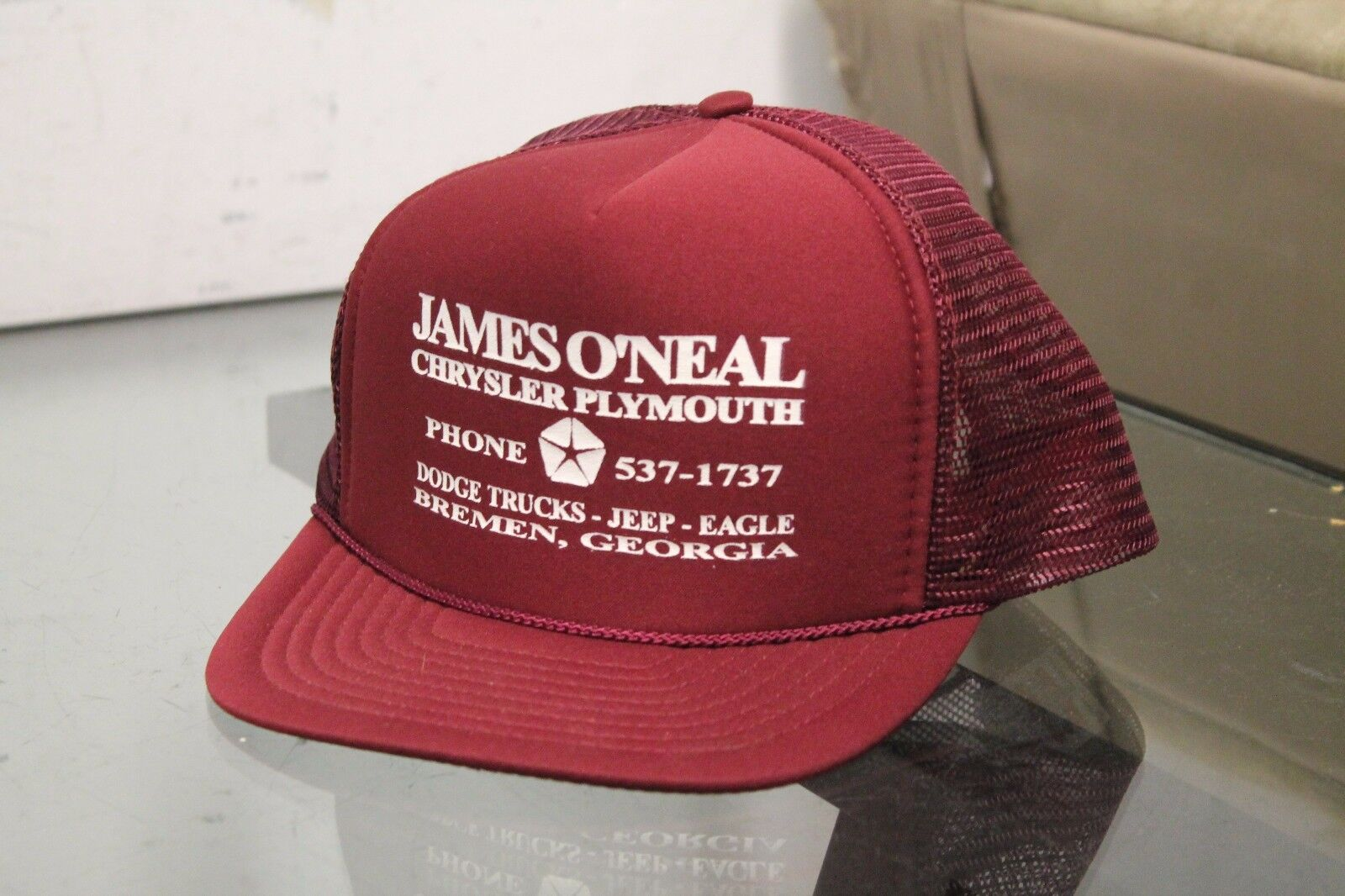Vintage James O'neal Chrysler Plymouth Bremen Hat Cap Red Snap Back Red Cap Adjustable d7f1b3