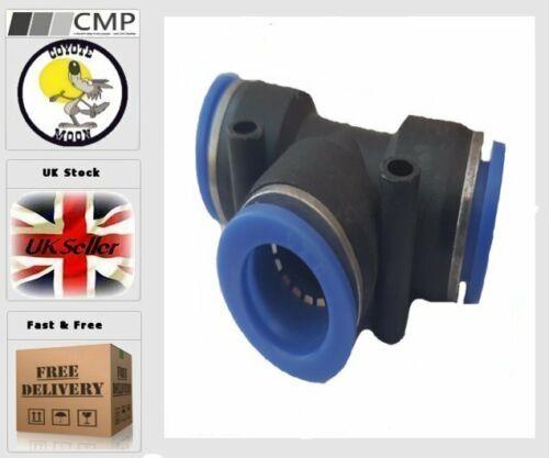 Tubo De Manguera De Accesorios Para Neumática Empuje Ajuste Conector 16mm Tee vendedor del Reino Unido