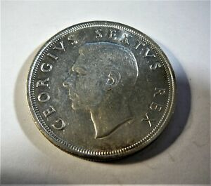 south africa 1949 5 shilling coin
