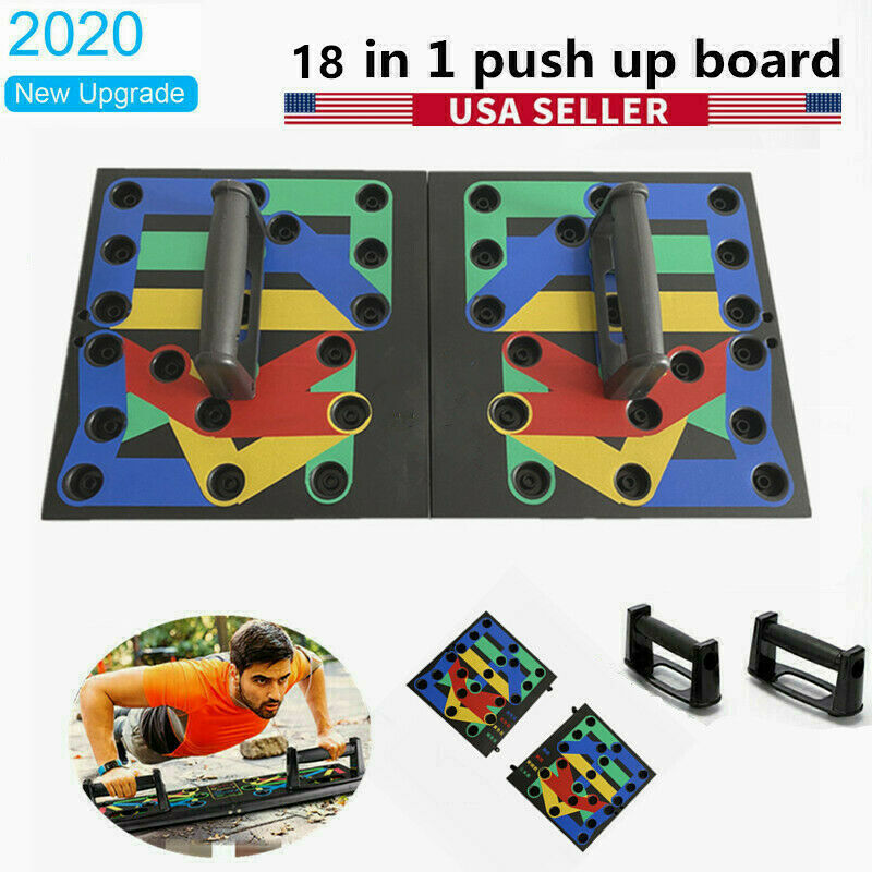 18 in 1 Push Up Rack Board System Fitness Workout Training Gym Exercise Stands