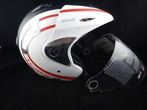 DESTOCKAGE-CASQUE-TORX-JET-NOIR-ET-BLANC-MATE-CASCO-SCOOTER-TRIAL-MOTO-Homologue