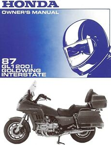 1987 Honda Goldwing Gl1200i Interstate Motorcycle Owners Manual Gold Wing Gl1200 Ebay