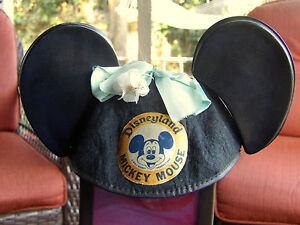 0cf3c6b85e6 Vintage Disneyland Mickey Mouse Ears Hat 50 s - 60 s Black   MINNIE ...