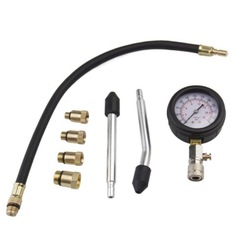 Preminum Petrol Engine Compression Tester Test Gauge Kit Car Auto Garage Tool