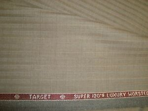 4-5-yd-HOLLAND-SHERRY-Wool-Fabric-Target-9-oz-Super-120s-Suiting-Taupe-162-034-BTP