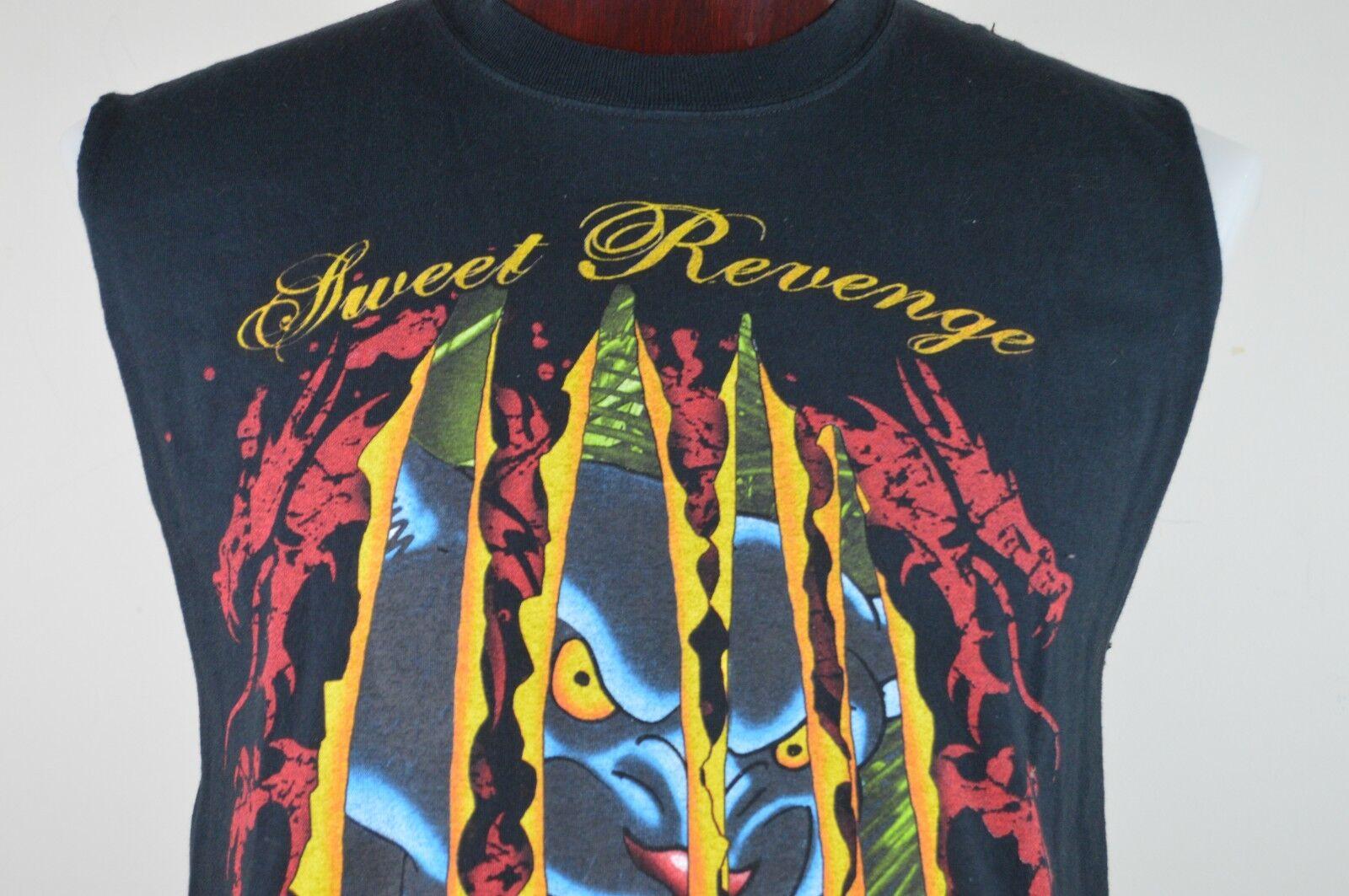 Sweet Revenge Band Mens L Sleeveless Black Graphic T Sh