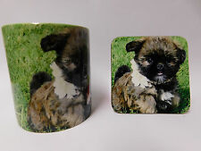 Brussels Griffon Puppy Dog Mug and Coaster Set