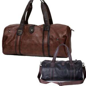 Mens-Leather-Bag-Luggage-Travel-Weekend-Overnight-Duffel-Gym-Handbag