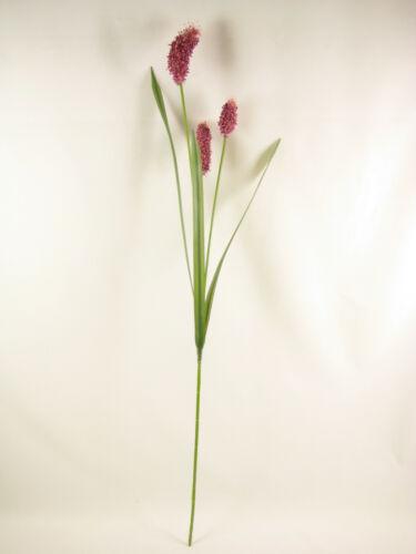 6x Rose Sanguisorba Burnet Spray avec feuilles longues fleurs artificielles Tiges
