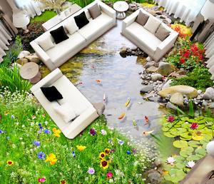3D Fish water grass 012 Floor WallPaper Murals Wall Print Decal 5D AJ WALLPAPER
