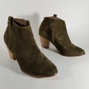 Modcloth Chelsea Crew Olive Green Suede
