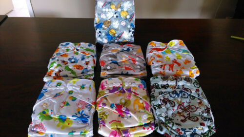 New Cloth Nappies Newborn Toddler Nappy Washable Reusable Adjustable+free insert