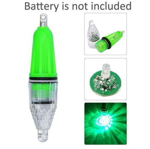 5X Green Fishing Flash Light LED Deep Drop Underwater Lure Bass Attractive Light