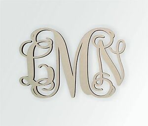 Wooden Monogram - Unfinished, Cursive Wooden Letter - Perfect for Crafts, DIY,