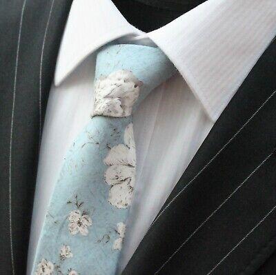 Tie Cravatta Slim Luce Dusty Blu Con Qualità Floreale Bianco Cotone T6185-mostra Il Titolo Originale Un Rimedio Sovranazionale Indispensabile Per La Casa