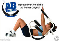 Ab Trainer Pro White Abdominal Exercise Roller Freeship