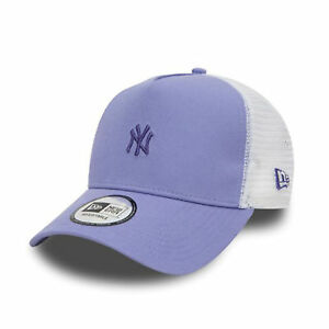 f0f4cc7ed14 New Era Women s Pastel Trucker New York Yankees Cap Purple One Size ...