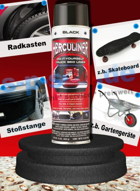 Quad ATV Rasentraktor Herculiner Beschichtung Spraydose Spray 440 ml schwarz