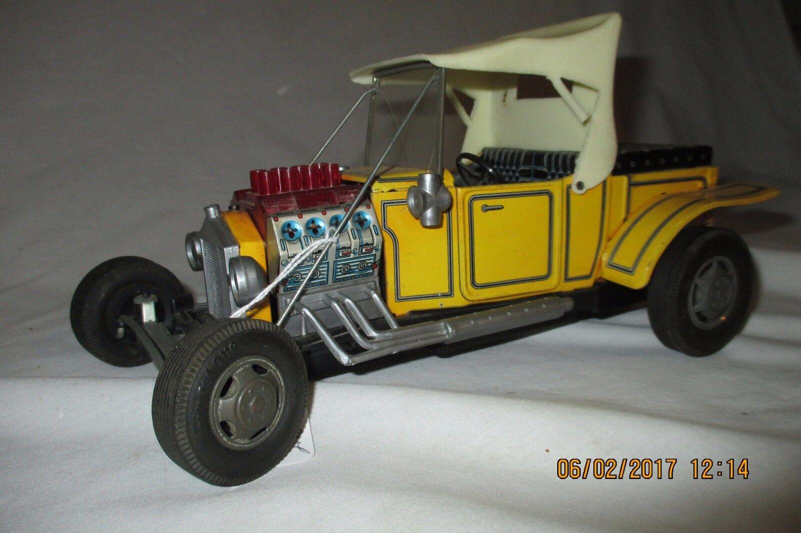 Vintage Tin Battery Op Hot Rod Custom Ford Model T,  Alps -  Japan