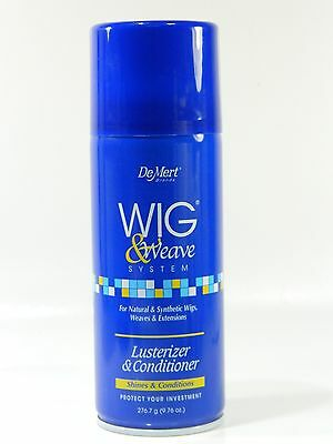 DEMERT WIG & WEAVE LUSTERIZER & CONDITIONER FOR NATURAL & SYNTHETIC 9.76 OZ.