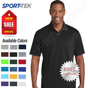 NEW-Sport-Tek-Mens-Cool-Dry-Fit-Wicking-Performance-Golf-Polo-T-Shirt-ST640