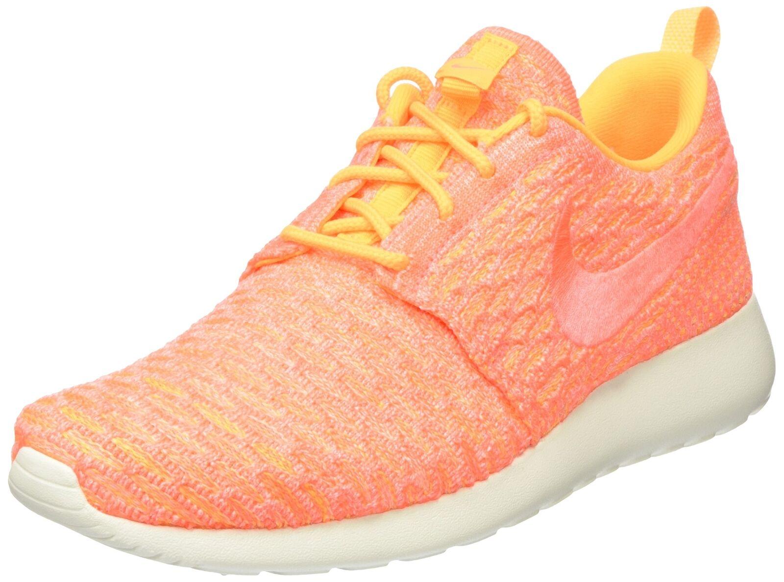 Nike Women's Roshe One Flyknit Laser Orange/Bright Mango/Sail Running Shoe 9....