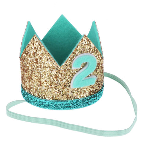 Baby Boy Girls First Sparkly Hat Crown Headband Tiara Party Birthday Photo Props