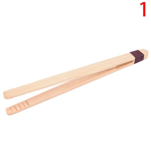 Nuovo tè in legno pinzetta bacon tè pinze cucina insalata di bambù cibo toast 1p