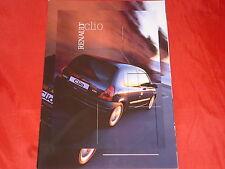Renault Clio base 1.2 RT Tech Line letra capital Sport Renault Sport folleto 2001