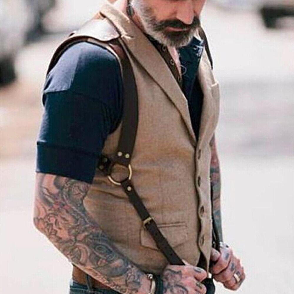 Kunstleder Herren Straps Body Strap on Harness Verstellbarer Kunstleder Gürtel