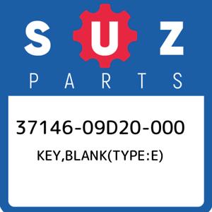 37146-09D20-000-Suzuki-Key-blank-type-e-3714609D20000-New-Genuine-OEM-Part