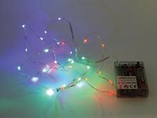 GUIRLANDE MULTICOLORE RGB A PILES LUMINEUSE 20 LED 2,20m DECORATION NOEL