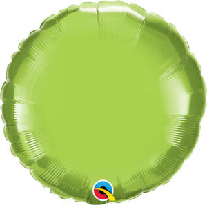 LIME-GREEN-ROUND-BALLOON-18-034-METALLIC-LIME-GREEN-PLAIN-QUALATEX-FOIL-BALLOON