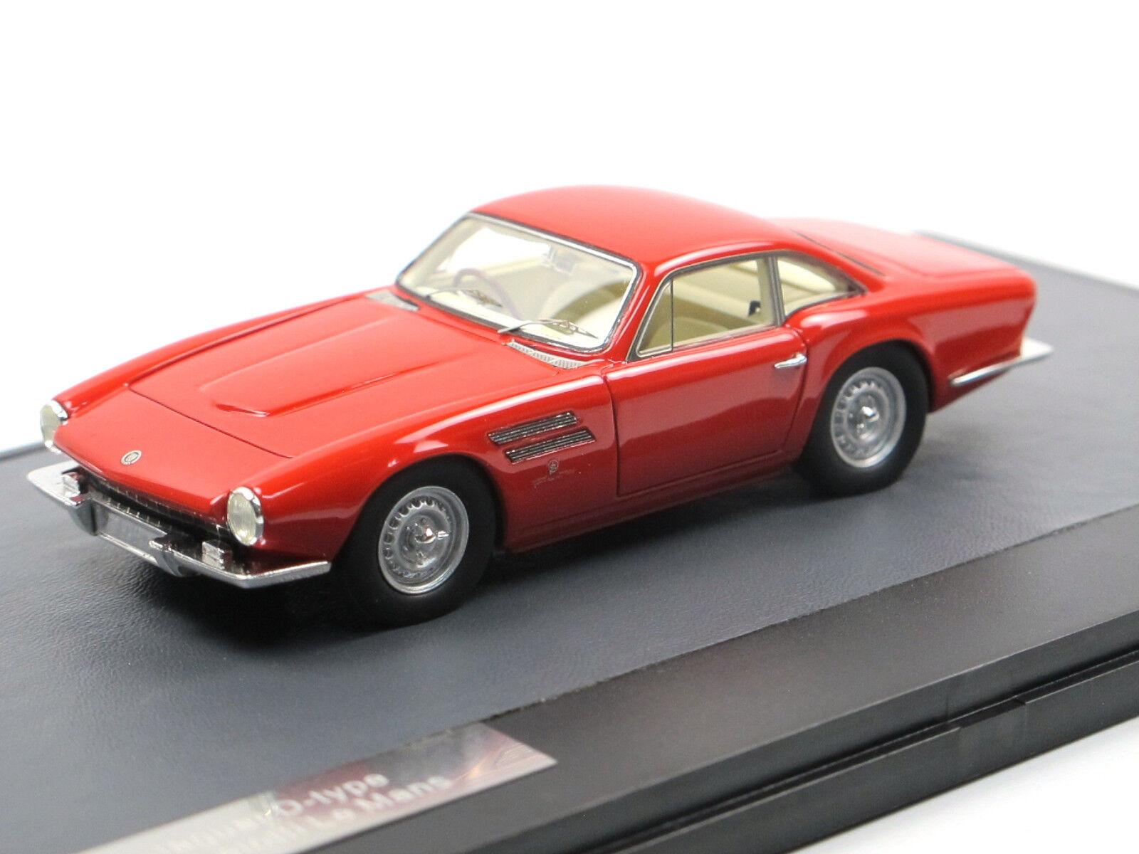 Matrix skala modellllerler 1963 Jaguar D -Typ Le Mans av Micheloti röd 1  43 begränsad