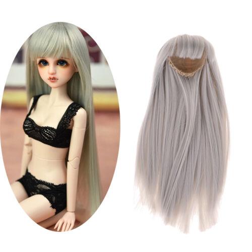 """BJD DIY Doll Wig Light Gray Hair 7-8/"""" 17-20cm for 1//4 DOD SD Dollfie Making"""